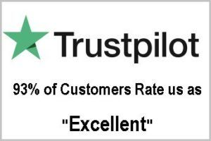 Trustpilot logo with the text 93% of customers rate us as excellent